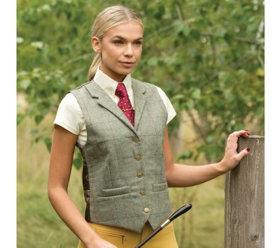 Equetech Womens Partridge Lapel Tweed Waistcoat