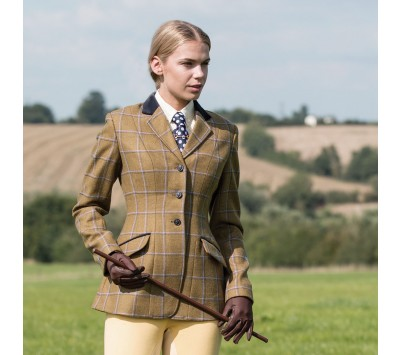 Equetech Womens Studham Deluxe Tweed Riding Jacket
