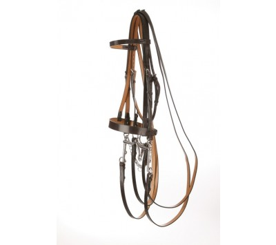 Jeffries Falcon Hunt Style Weymouth Plain Bridle