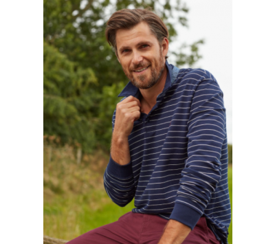 Joules Mens Woodwell Long Sleeve Polo