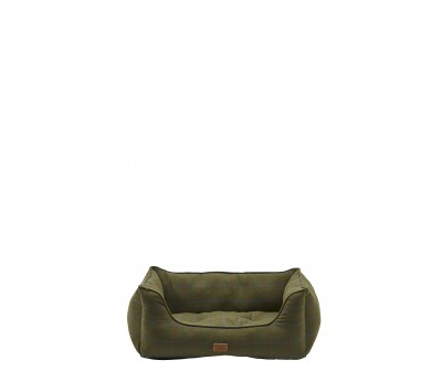 Joules Percher Check Dog Bed