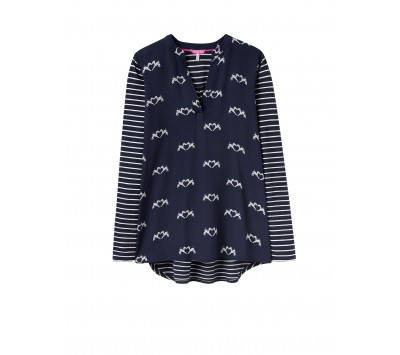 Joules Beatrice Jersey Woven Mix Top
