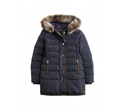 Joules Girls Blisworth Mini Me Longline Padded Jacket